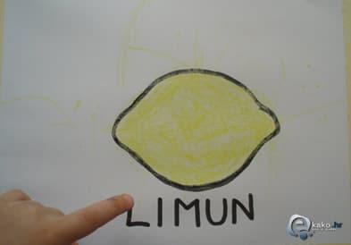 kako nacrtati limun