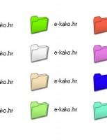 Kako promijeniti boju ikone foldera?