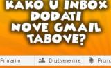 Kako u inbox dodati nove gmail tabove?