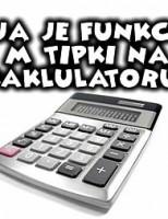 Koja je funkcija M tipki na kalkulatoru?
