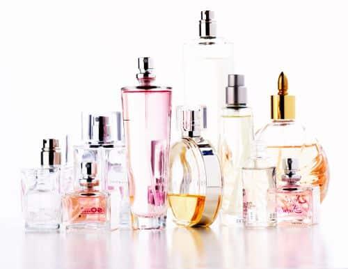 Assortment of perfume bottles