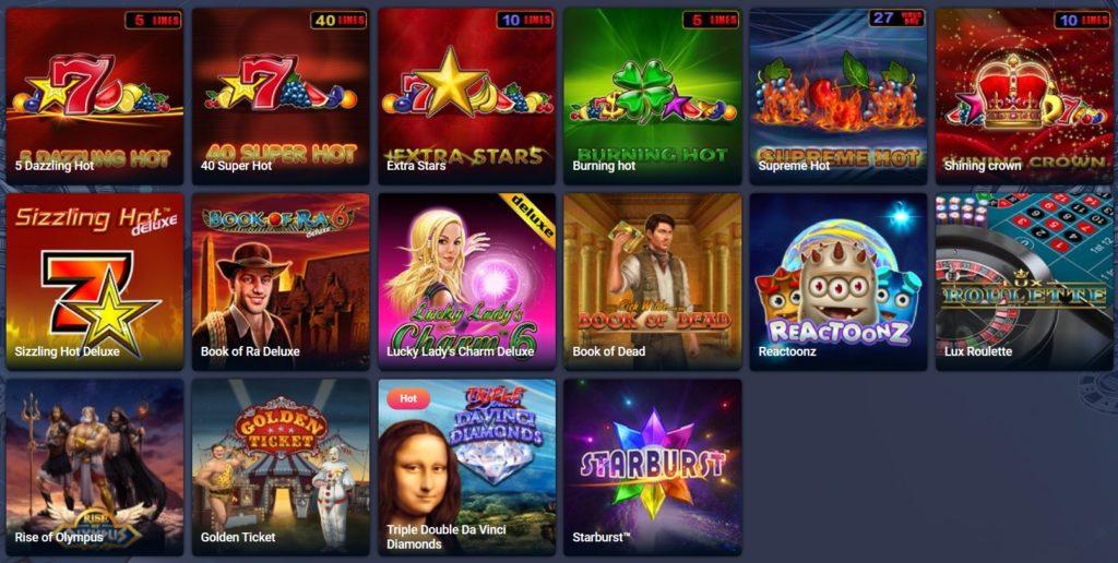 Popularne igre na Favbet casinu
