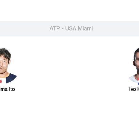Tip dana: Tatsuma Ito – Ivo Karlović(Tenis, Ponedjeljak, 22.03.2021.)