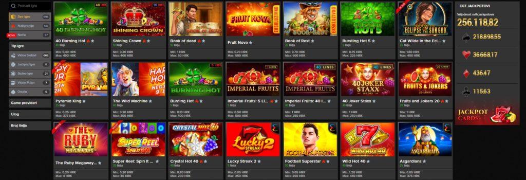 Igre na Germania Casino stranici
