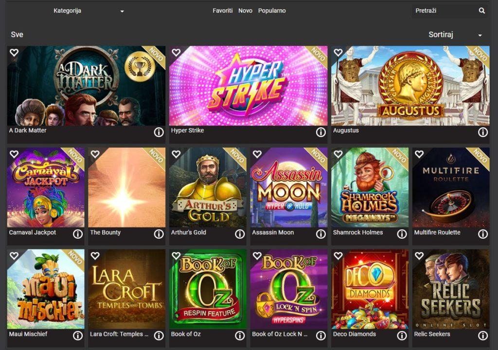 Igre koje nudi HL Casino