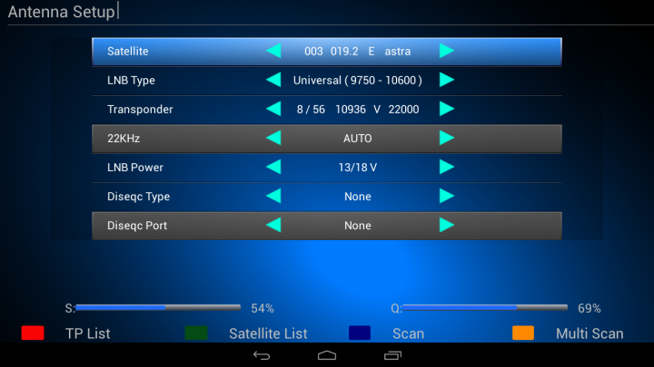 satelitske postavke