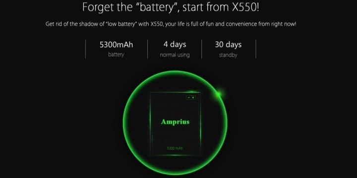 Bluboo X550 baterija