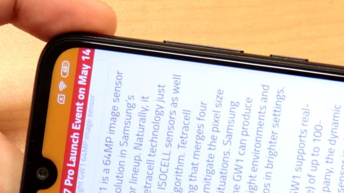 Redmi Note 7 Screen