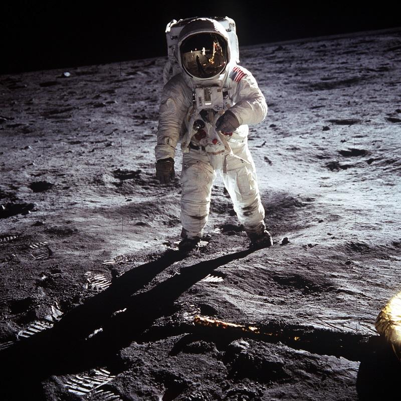 Buzz Aldrin na površini Mjeseca, 21. srpanj 1969. godine