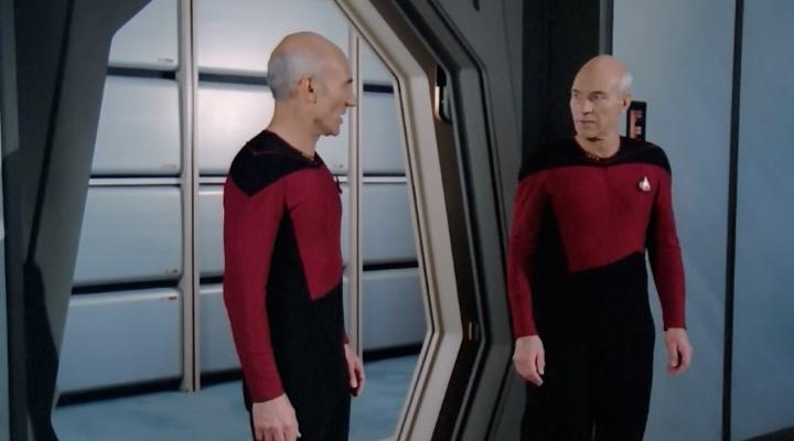 Picard i Picard smišljaju kako spasiti Enterprise