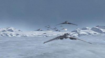 Eskadrila F-302ca u napadu na Anubisove snage iznad Antartike (FOTO: Stargate Wikia)