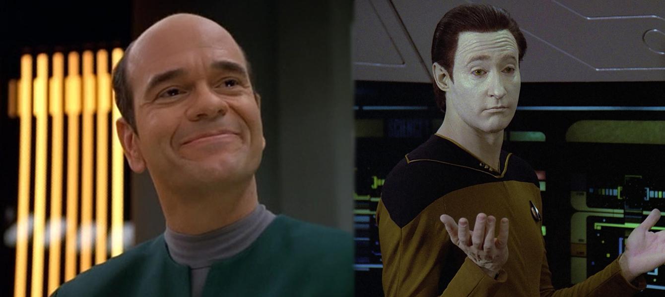 Doktor iz Voyagera - lijevo Data iz Nove Generacije - desno