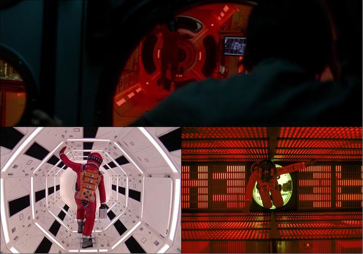 Na vrhu je scena iz filma 'Life', na dnu '2001: Odiseja u svemiru'