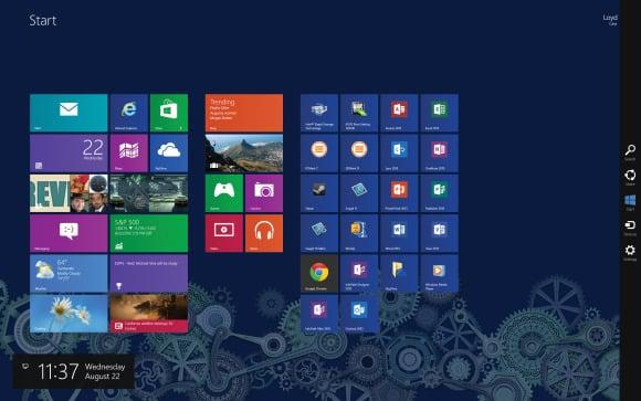 Aplikacije se prikazuju kao pločice
