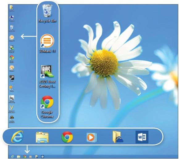 Desktop nudi poznate prečace