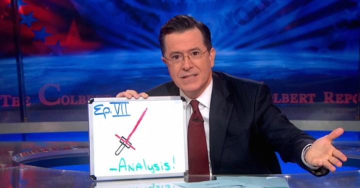 Stephen Colbert Star Wars The Force Awakens
