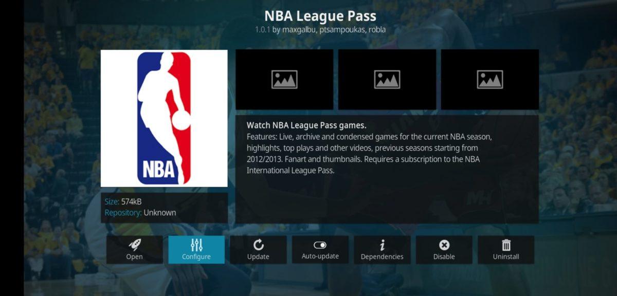 NBA Liga na Kodi