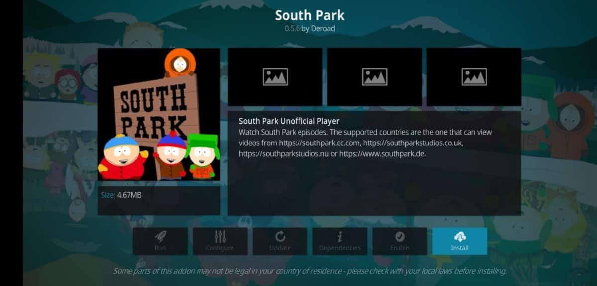 South Park gledajte na Kodi servisu