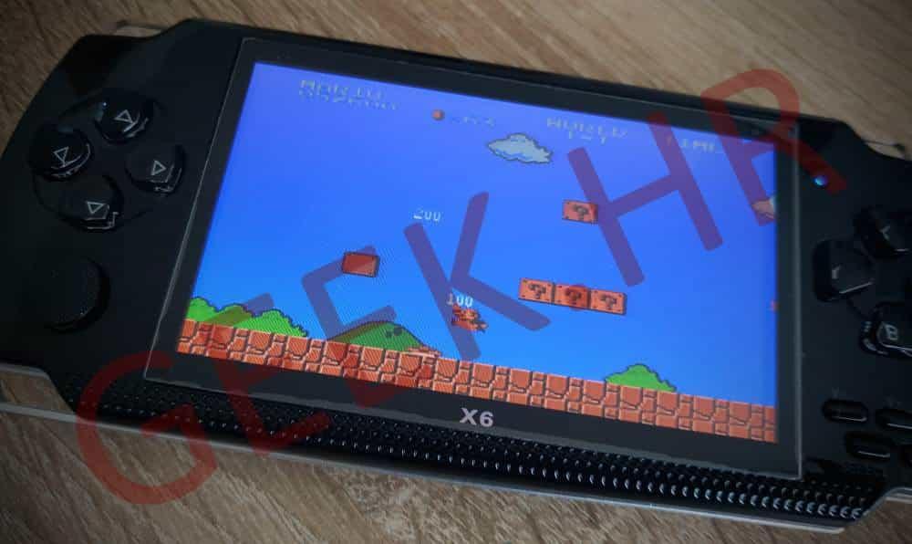 PSP X6 retro konzola Super Mario