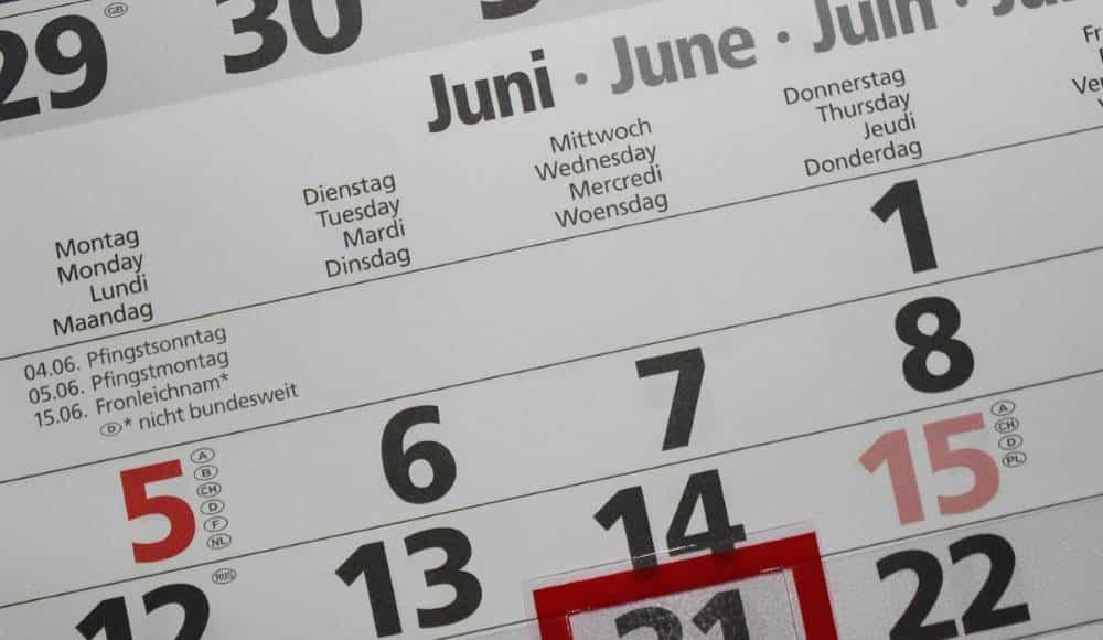 Označavanje mjeseci na engleskom