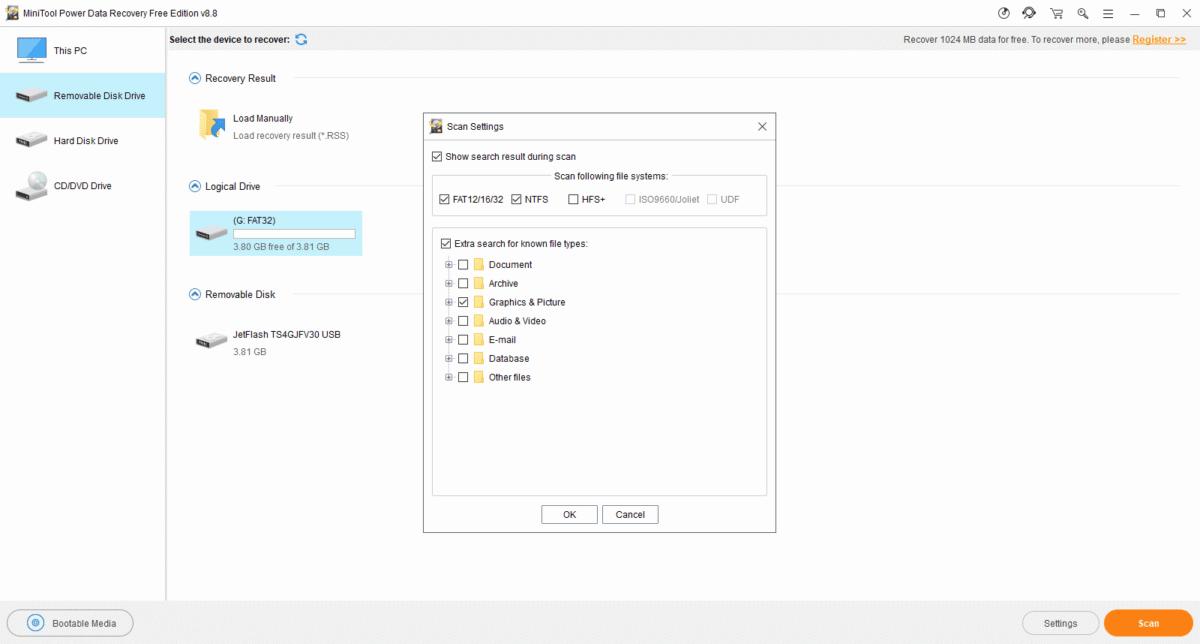 MiniTool alat za vraćanje podataka