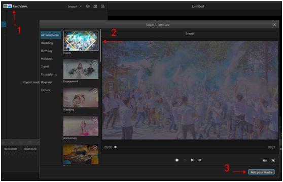 Aplikacija Filme za video edit