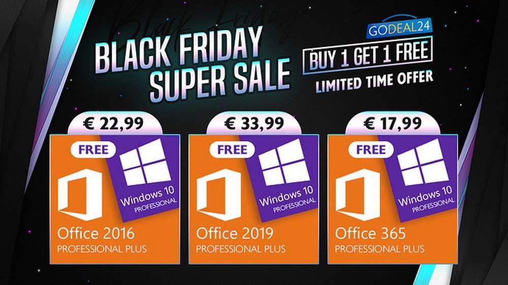 Black Friday Windows 10 licenca