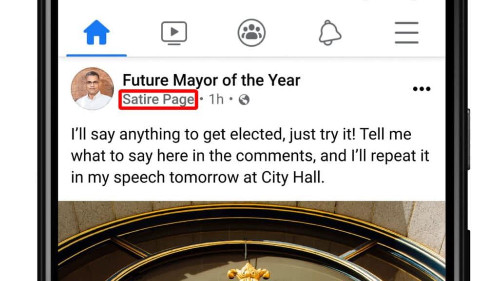 Facebook će započeti s označavanjem satiričnih stranica
