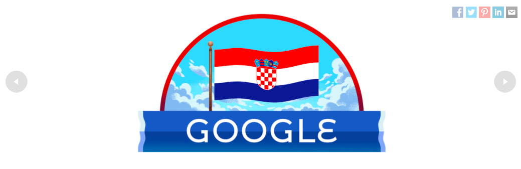 Google doodle Hrvatska zastava