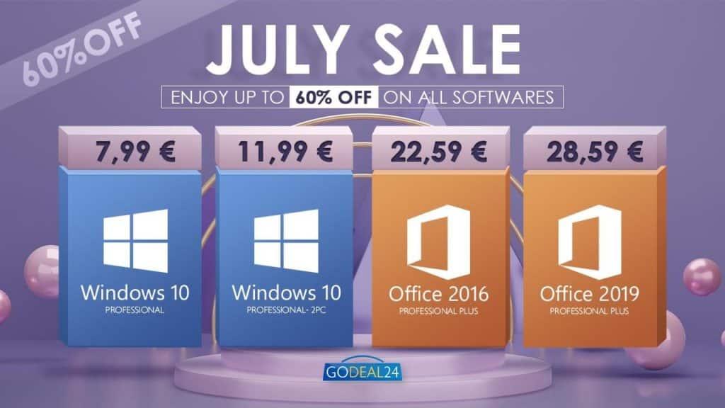 Velika srpanjska rasprodaja softvera – Windows 10 Pro za samo 7,99 eura i još mnogo toga