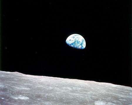 Planet Zemlja, pogled sa površine Mjeseca