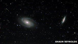 Galaksije Cigar i Bodes udaljene 12 milijuna godina dio su Plough konstelacije (Image credits: Shaun Reynolds)