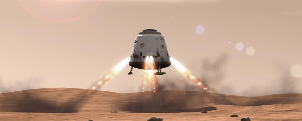Svemirski brod Dragon slijeće na Mars (Foto: Popular Science)