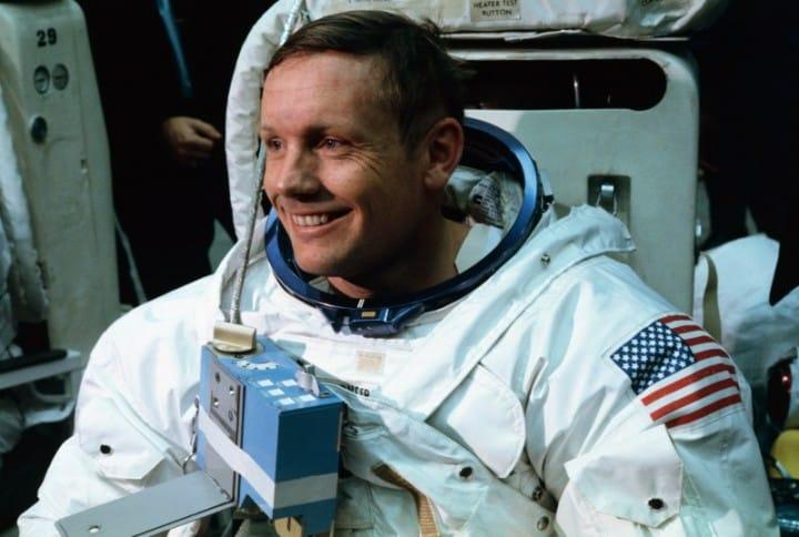 Neil Armstrong samo je pet puta fotografiran na Mjesecu. Niti na jednoj se fotografiji ne vidi dobro. (Credit: NASA)