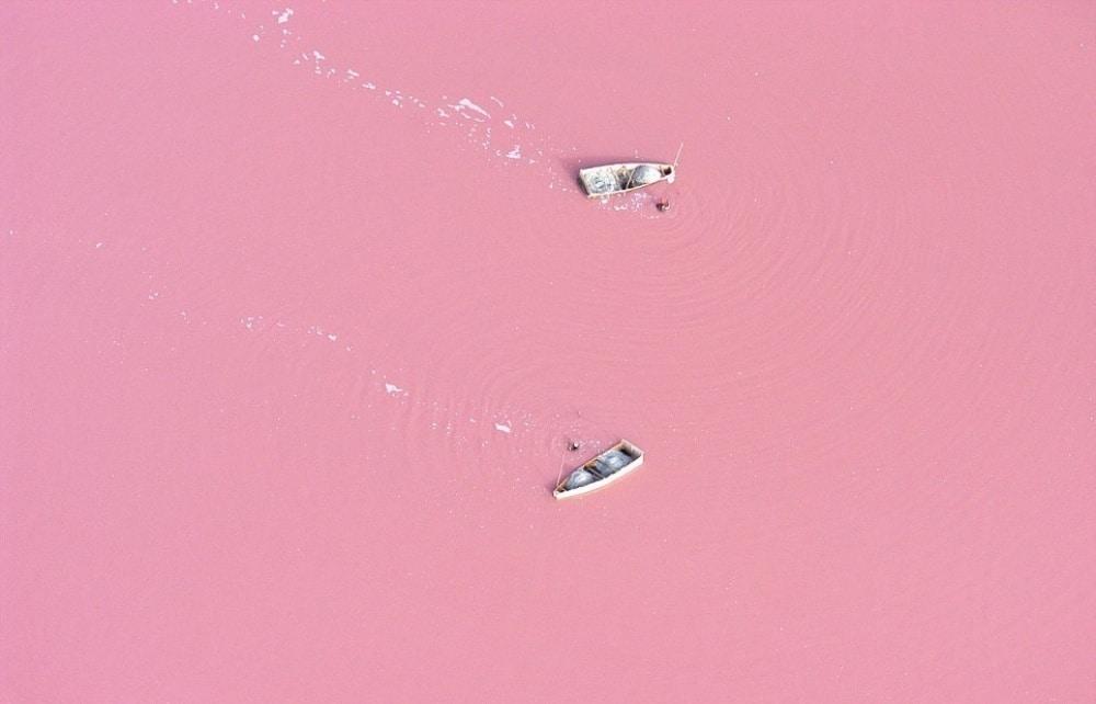 Jezero Retba u Senegalu