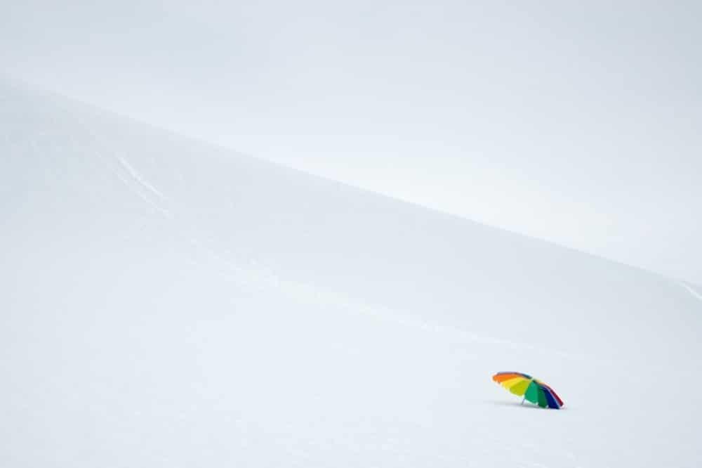 Suncobran na snijegu