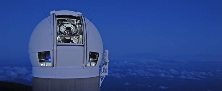 Prvi teleskop iz sustava ATLAS, tzv.Panoramic Survey Telescope & Rapid Response System (Pan-STARRS) 1, smješten na obroncima vulkana Mount Haleakala na Havajima. (FOTO: Pan STARSS Homepage)