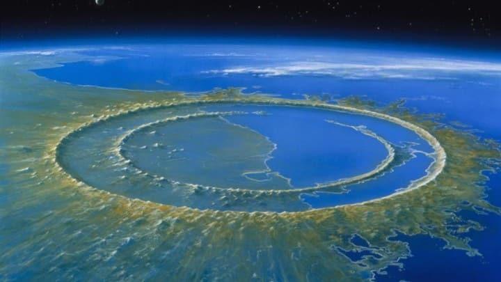 Umjetnički prikaz kratera Chicxulub neposredno nakon udara asteroida (FOTO: Detlev Van Ravenswaay / Science Source)