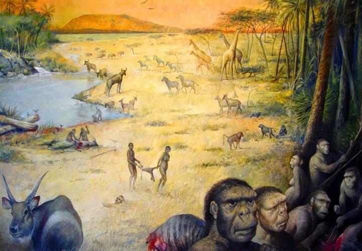 Umjetnički prikaz područja Olduvai Gorge prije 1.8 milijuna godina (FOTO: M. Lopez-Herrera / Enrique Baquedano / Olduvai Paleoanthropology and Paleoecology Project