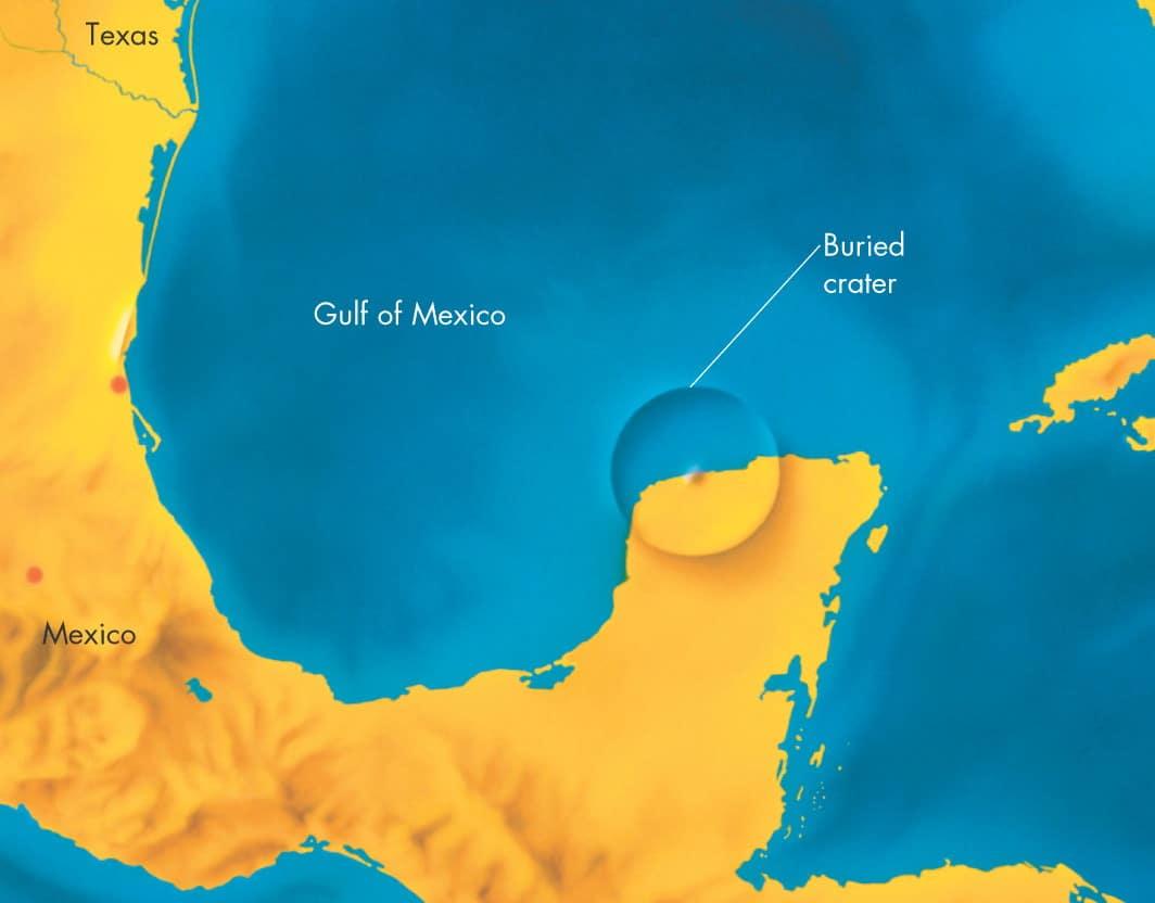 Udar asteroida na području poluotoka Yucatan drži se najizglednijim uzrokom izumiranja dinosaura (Credit: pics-about-space.com)