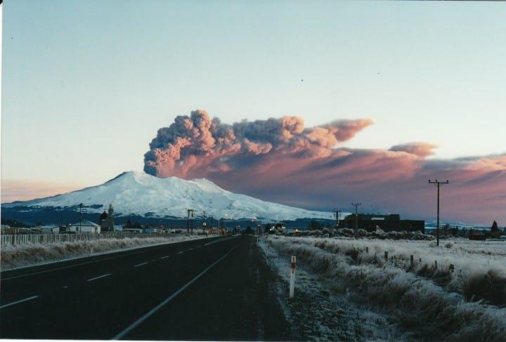 Erupcija Mt. Ruapehu (FOTO: mapio.net)