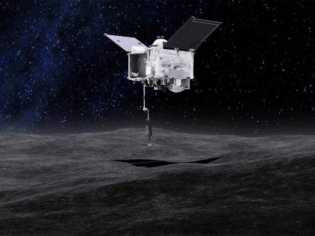 Umjetnički prikaz uzimanja uzorka sa asteroida Bennu (FOTO: NASA)