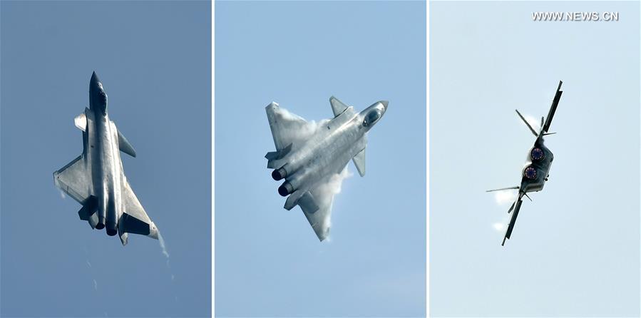 J-20 prilikom leta na zračnom sajmu (Foto: news.cn)