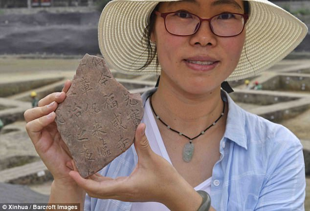 The team of archaeologists unearthed over 1,000 tablets inscribed with Buddhist scriptures, and more than 500 stone sculptures, alongside glazed tiles