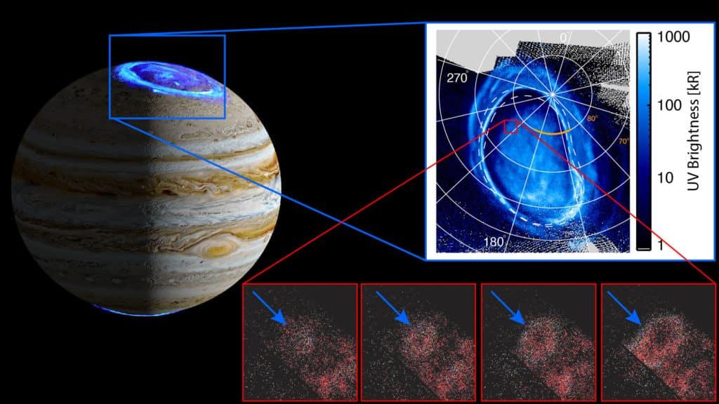 NASA-ina misija Juno zabilježila neobičnu svjetlost na Jupiteru
