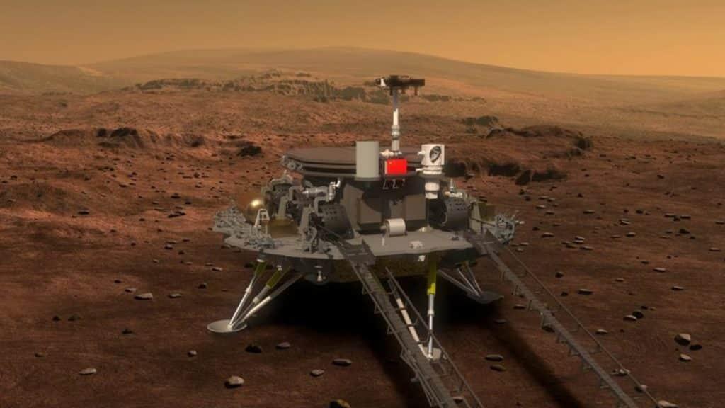 Kina objavila video Zhurong rovera kako se kreće po Marsu